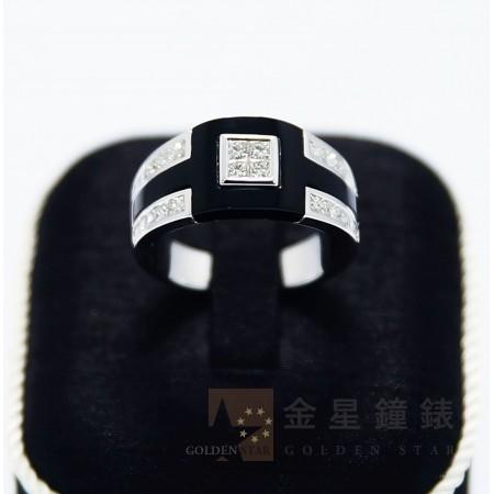 黑色個性造型鑽戒(大)