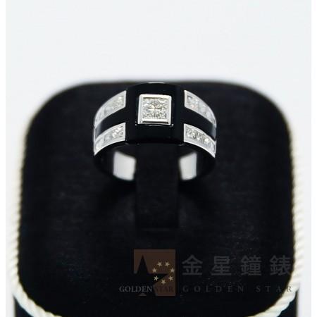 黑色個性造型鑽戒(小)