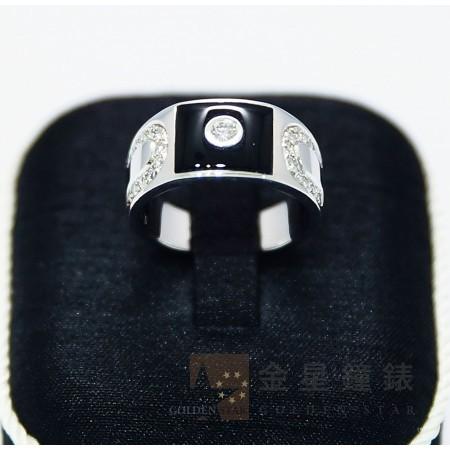 特殊黑色造型個性鑽戒