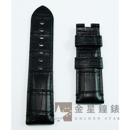 原廠沛納海 鱷魚皮錶帶 黑