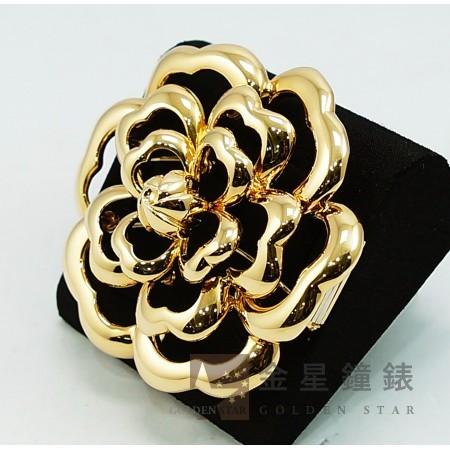 Chanel 香奈兒 山茶花造型 18K黃金胸針